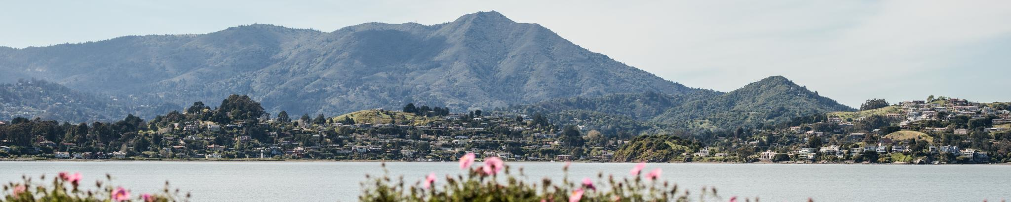 Profile of Mount Tam viewed from across the water