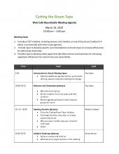 CGT Mar 18 Distribution Agenda